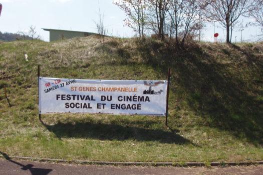 Banderolle du festival social et engagé de Saint Genet Chamapnelle